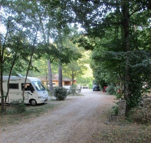 Een deel van de camping