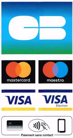 bank debit cards and credit cards are accepted